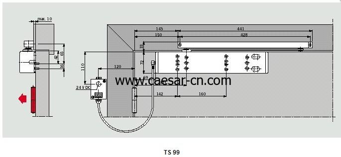 德国多玛DORMA TS99闭门器剖面图