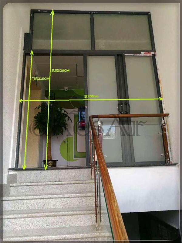 办公室不锈钢包框单开自动门改造解决方案