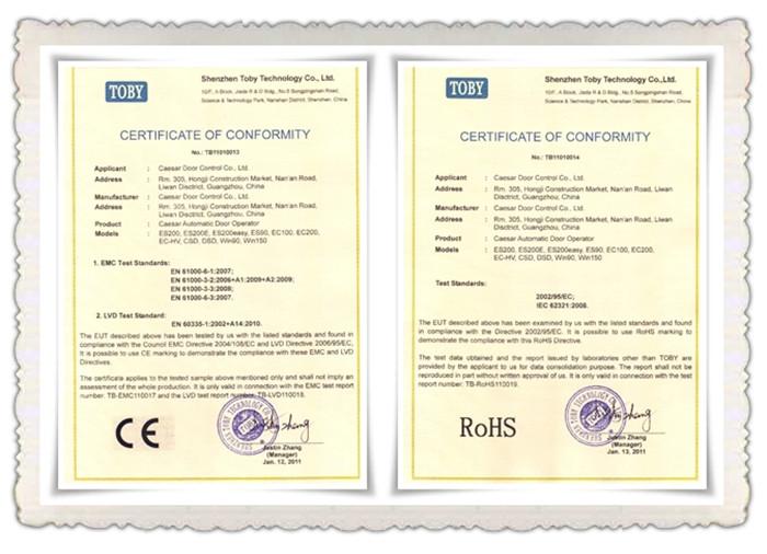 凯撒CE国际认证证书