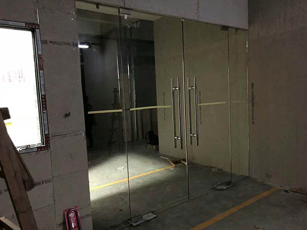 【案例精选】南沙某办公室安装自动平开门现场施工图